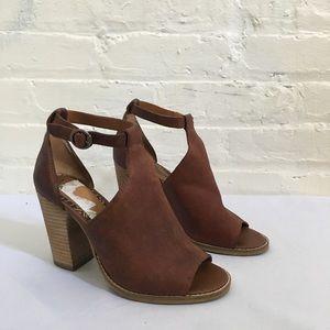 Lucky Brand Peep Toe Block Heel Bootie